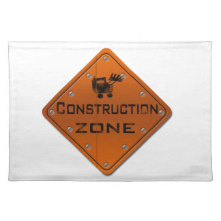 Construction Zone Place Mats