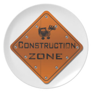 Construction Zone Party Plates