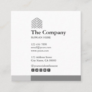Construction architect business cards zazzle nz constructor architect grey square business card reheart Image collections