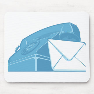 Contact Us Symbol - Phone & Mail Mouse Pad