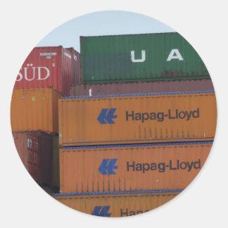 Container Classic Round Sticker