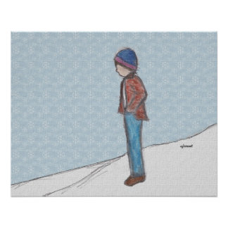 """""""Contemplation in the Snow"""" Print"""