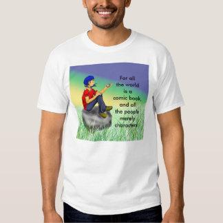 Contemplative comic scene t-shirt