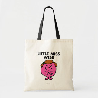 Contemplative Little Miss Wise Tote Bag