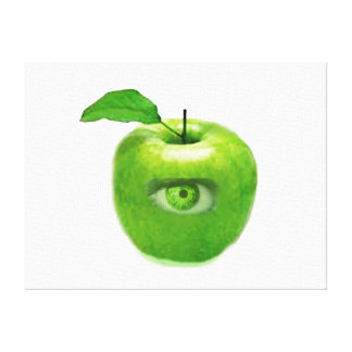 CONTEMPORARY ART-ART CANVAS-SEEING APPLE EYE GALLERY WRAPPED CANVAS