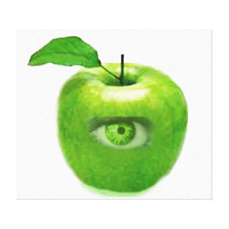 CONTEMPORARY ART-ART CANVAS-SEEING APPLE EYE STRETCHED CANVAS PRINT