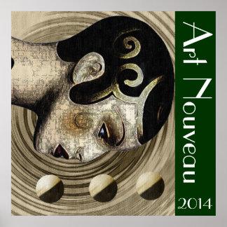 Contemporary: Art Deco/Art Nouveau Poster