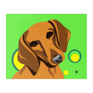 Contemporary Dachshund Art
