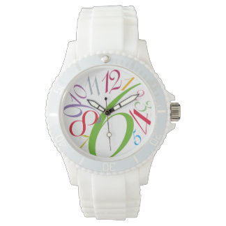 contemporary funky white sports watch