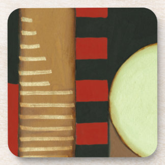 Contemporary Loft Style Paneled Painting Coaster