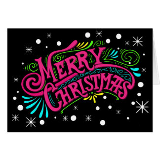 Contemporary Merry Christmas Note Card