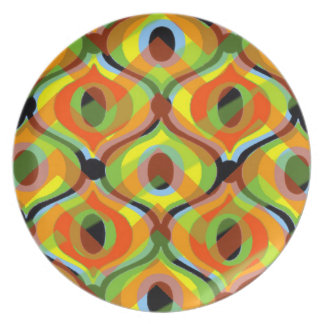 Contemporary Retro Abstract: Dinner Plate