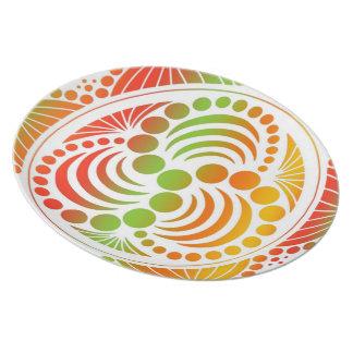 Contemporary Retro Design Party Plates