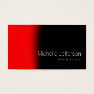 Contemporary Trendy Style Red Black Business Card