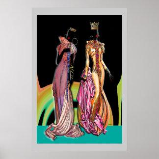 Contemporary: Urban African Art Poster