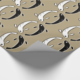 Contemporary Yin and Yang fish Wrapping Paper