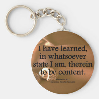 Contentment Philippians 4-11 Condensed Key Ring