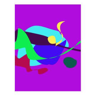 Contingency Vivid Orchid Postcard