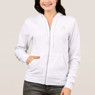 Contour of a hare light green hoodie