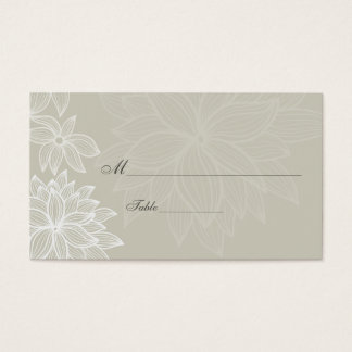 Contoured Bloom Taupe Special Occasion Place Card