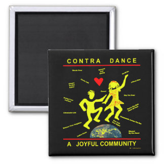 Contra Dance Joy Square Magnet
