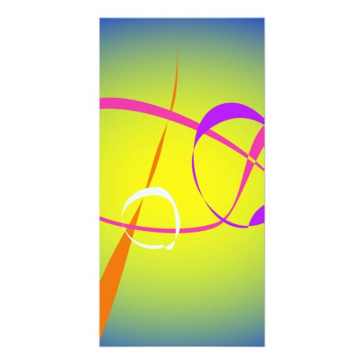 Contrast and Fuzziness Abstract Art Customized Photo Card