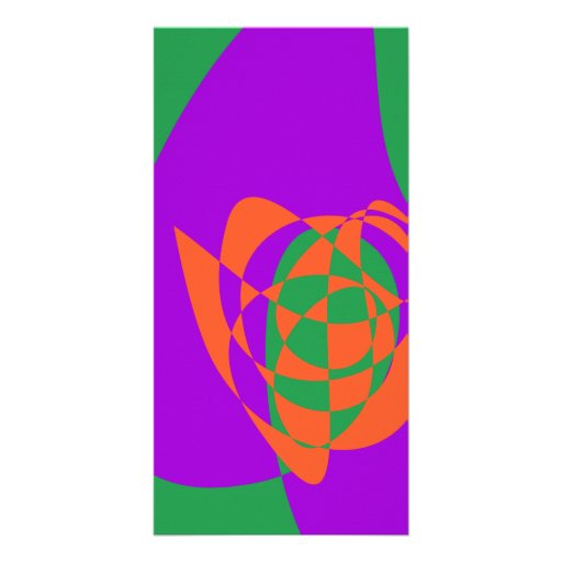 Contrasting Colors Simple Abstract Art Photo Card