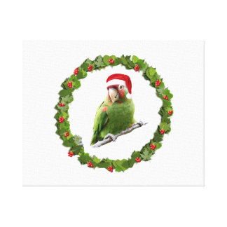 Conure Christmas Wreath @ Canvas Print