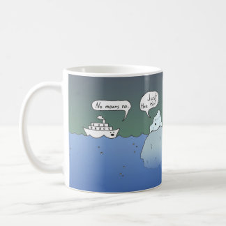 Conversation Between an Iceberg and a Boat Coffee Mug