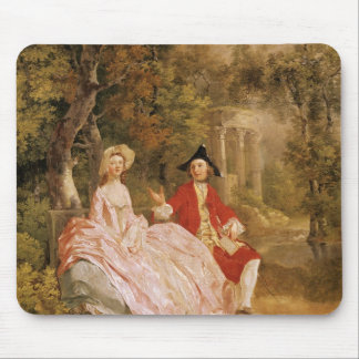 Conversation in a Park, portrait of the artist and Mouse Pad