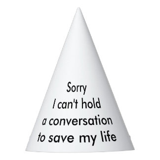 Conversation Party Hat
