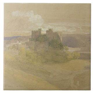 Conway Castle (graphite, w/c and gouache on paper Tile