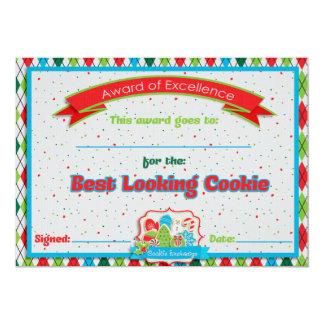 Cookie Exchange Best Looking Cookie Award Invitation Cards