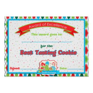 Cookie Exchange Best Tasting Cookie Award Custom Invites