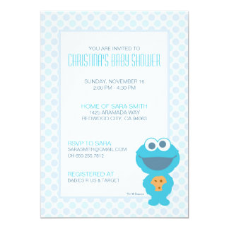 Cookie Monster Baby Shower Invite