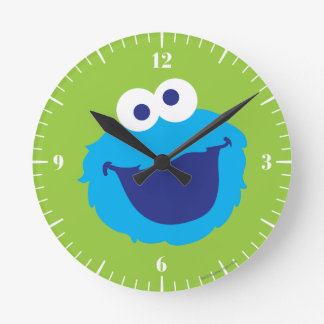 Cookie Monster Face Round Clock