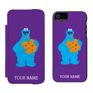 Cookie Monster Graphic | Add Your Name Incipio Watson™ iPhone 5 Wallet Case