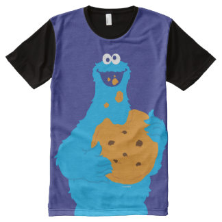 Cookie Monster Graphic All-Over Print T-Shirt