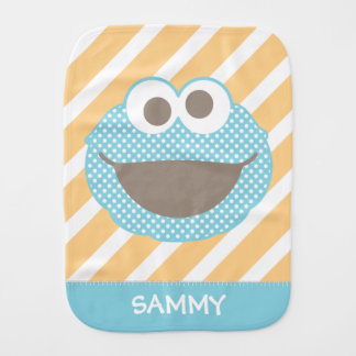 Cookie Monster Polka Dot Face | Add Your Name Burp Cloth