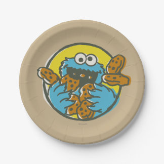 Cookie Monster Retro Paper Plate