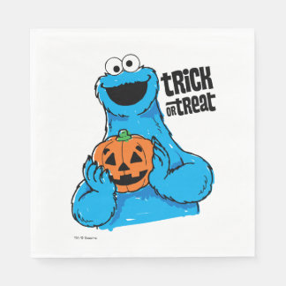 Cookie Monster - Trick Or Treat Disposable Napkins