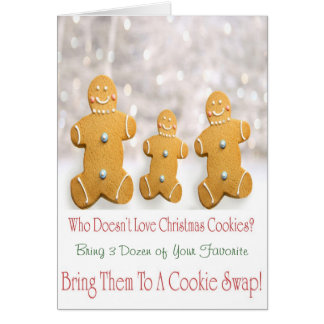 Cookie Swap Invitation Greeting Card