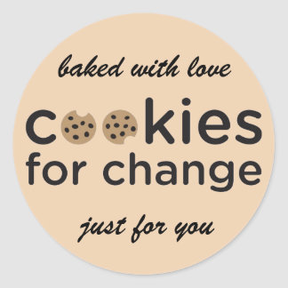 Cookies for Change Baked with Love Stickers