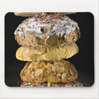 Cookies in a stack mouse pad