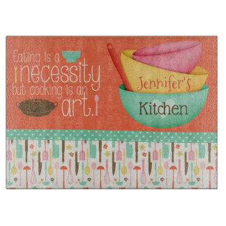 Cooking Is An Art Personalised Cutting Board