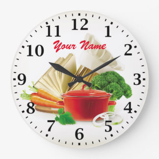 Cooking Kitchen Personalizable Wall Clock