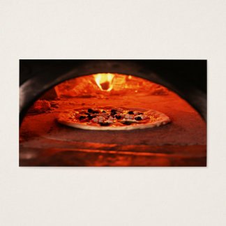 Cooking Pizza Business Card
