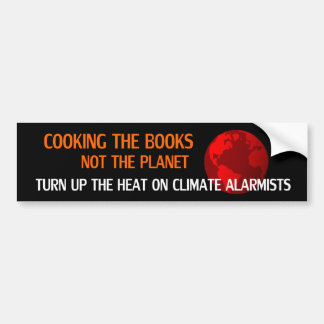 Cooking the Books, Not the Planet Bumper Sticker