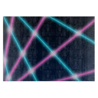 Cool 80s Laser Light Show Background Retro Neon Cutting Board
