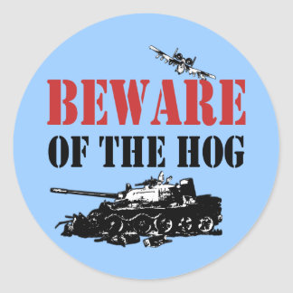 Cool A-10 Warthog Classic Round Sticker